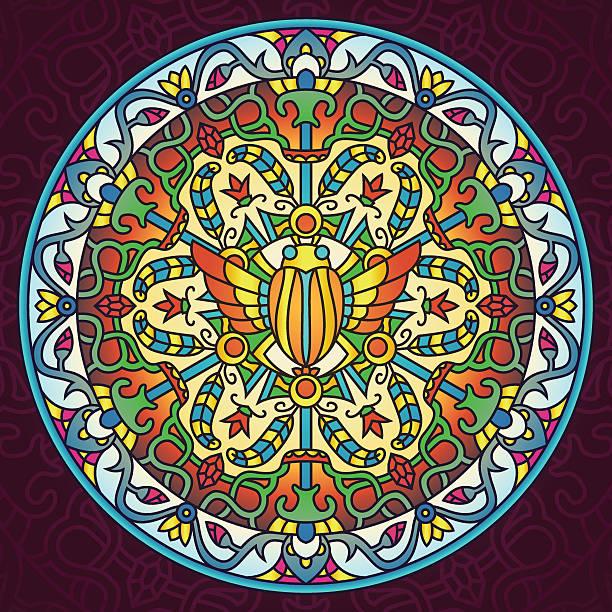 Egyptian Ancient Civilization Mandala vector art illustration