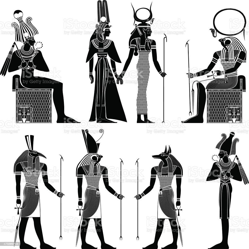 egyptian ancient symbol vector art illustration