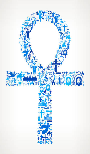 Egyptian  Ankh Christianity and Religion Vector Illustration vector art illustration