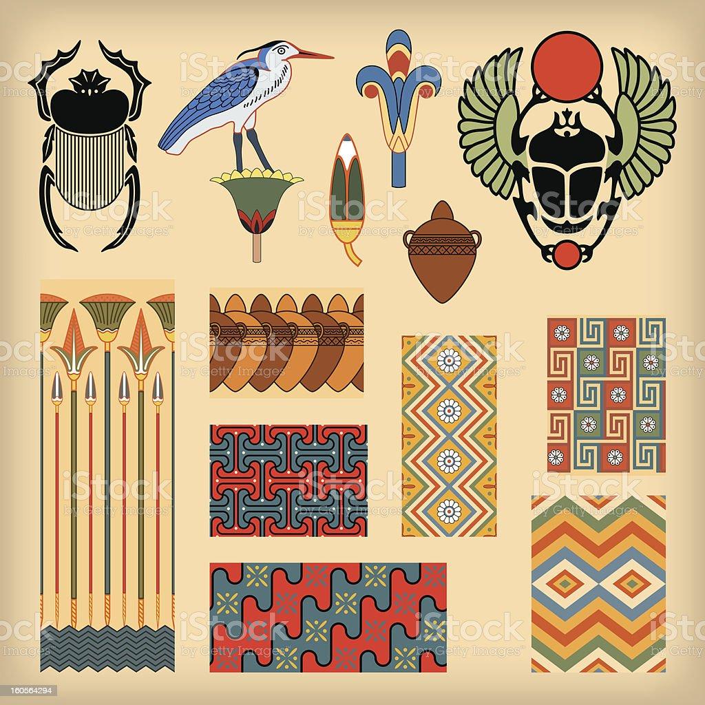 Egyptian art vector art illustration