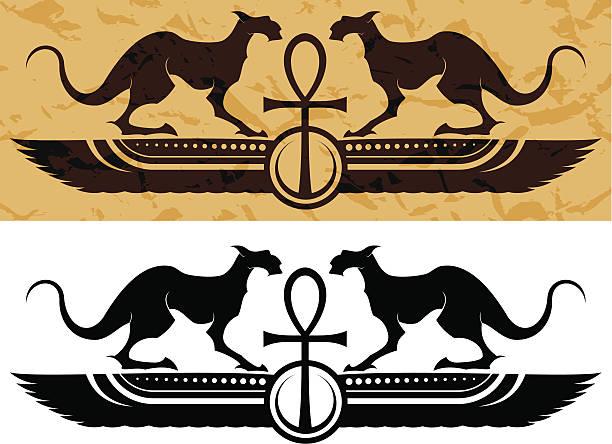 egyptian background vector art illustration