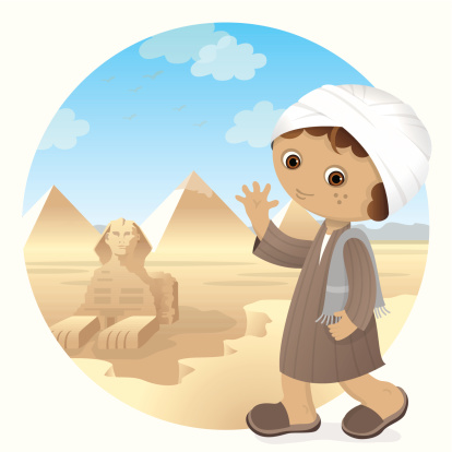Egyptian boy at Great Spynx of Giza