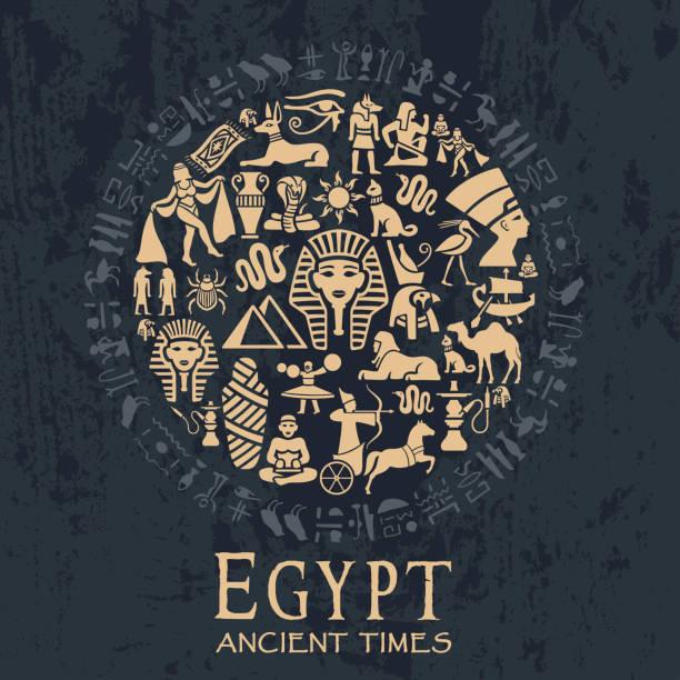 Egyptian Collage Egyptian Collage egyptian culture stock illustrations