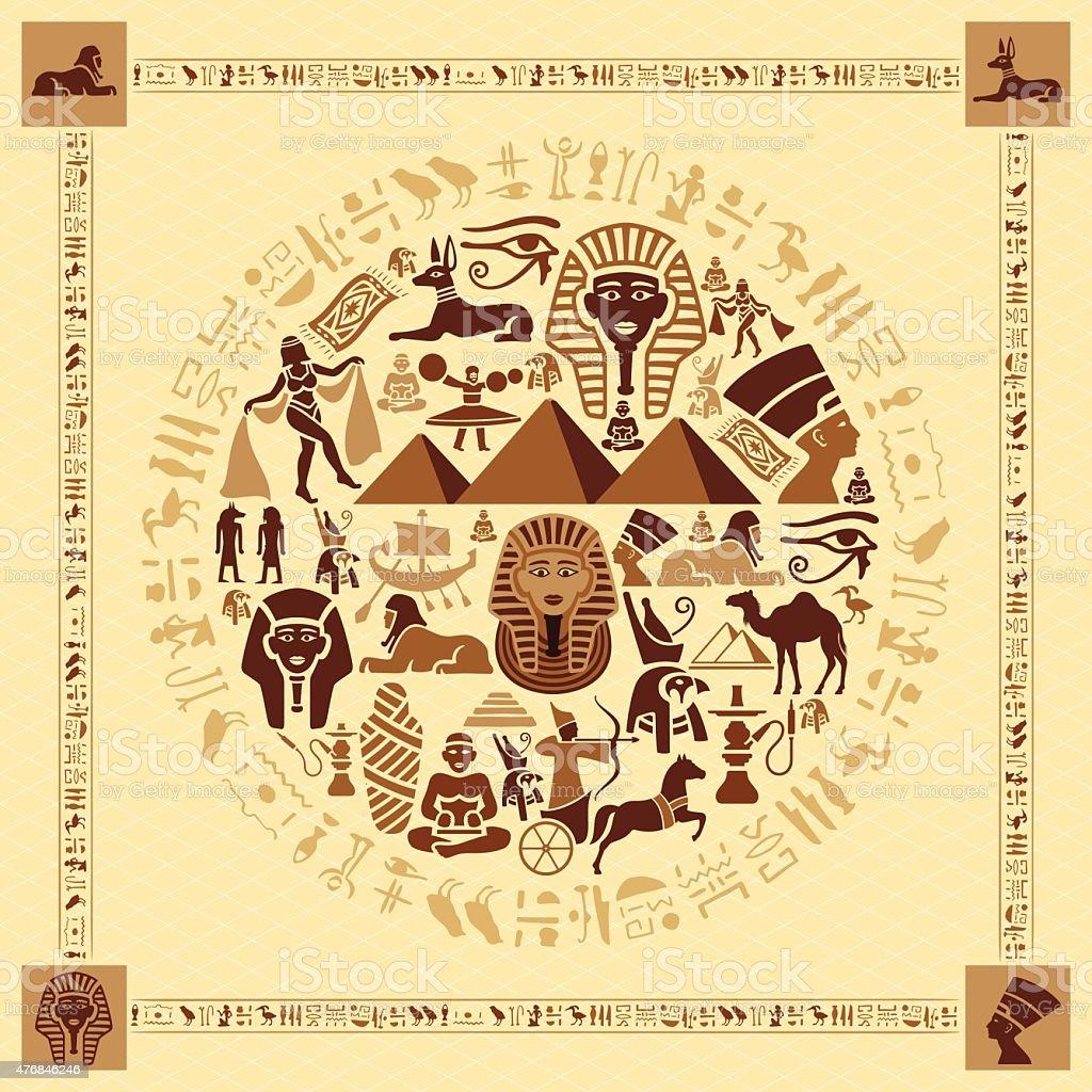 Egyptian Collage vector art illustration