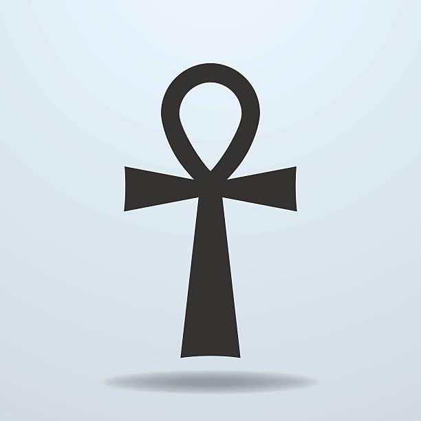 Egyptian cross, ankh symbol. Vector icon vector art illustration