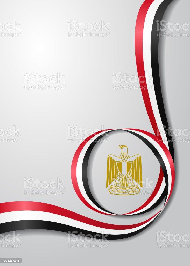 Egyptian flag wavy background. Vector illustration.