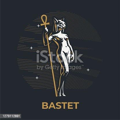 istock Egyptian goddess Bastet. 1279112691