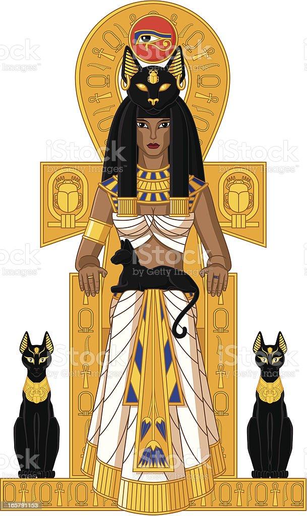egyptian goddess bastet stock vector art amp more images of