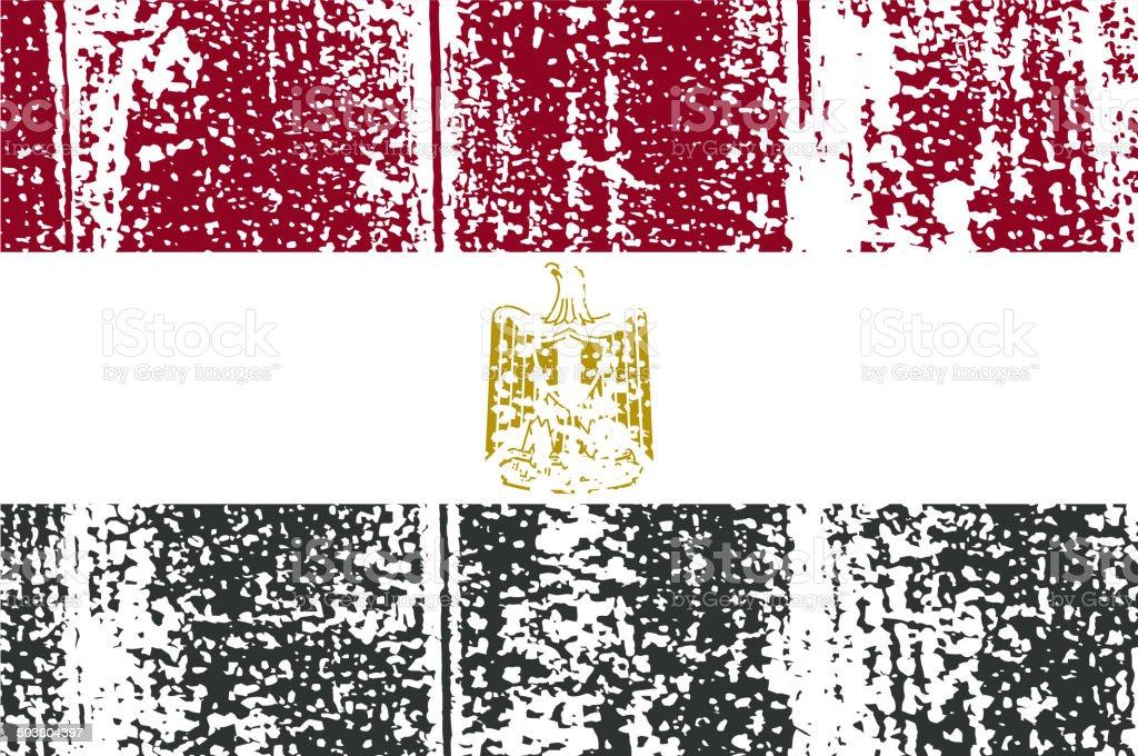 Egyptian grunge flag.