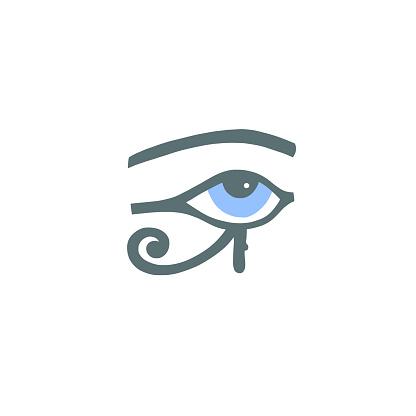 Egyptian hieroglyph eye of ra or the eye of horus