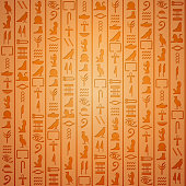 Egyptian hieroglyphics. Symbol ancient, egyptian culture, egyptian old writing, vector illustration