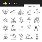 381234dfb7929 Egyptian icon set for a logo, website design, printing products and more.