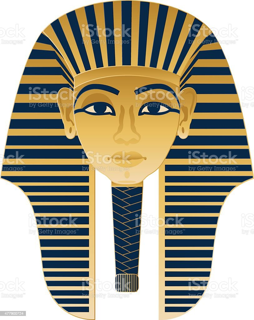 Egyptian Icon Tutankhamun vector art illustration