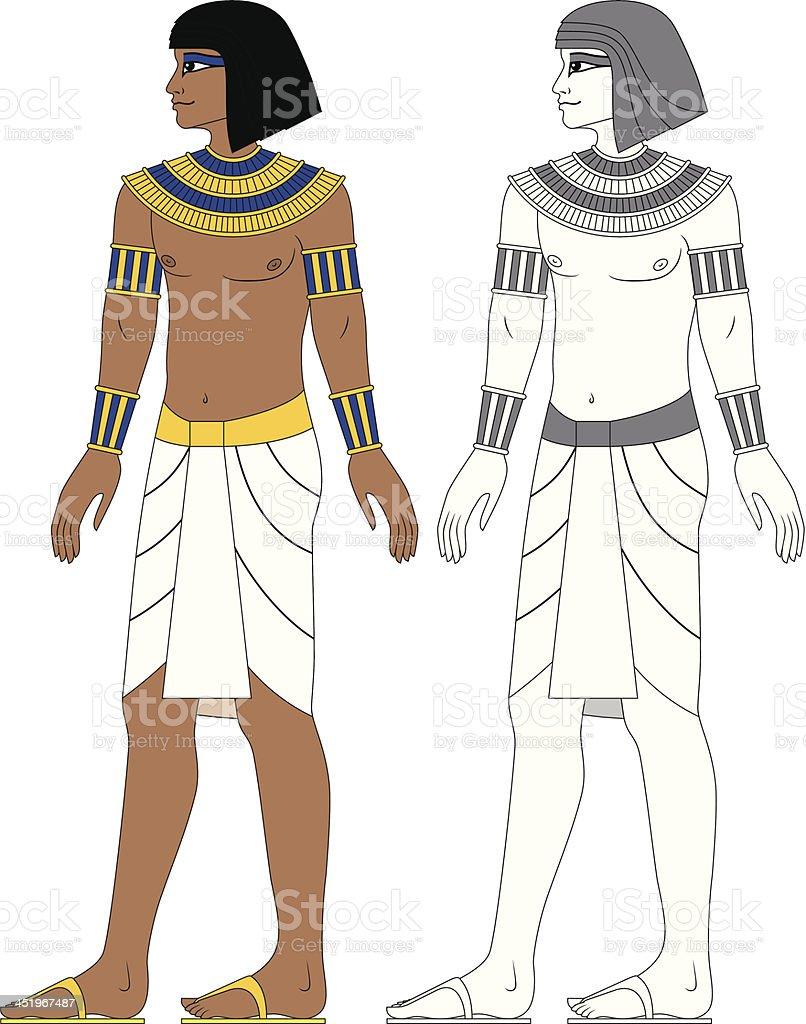 Egyptian Man royalty-free stock vector art