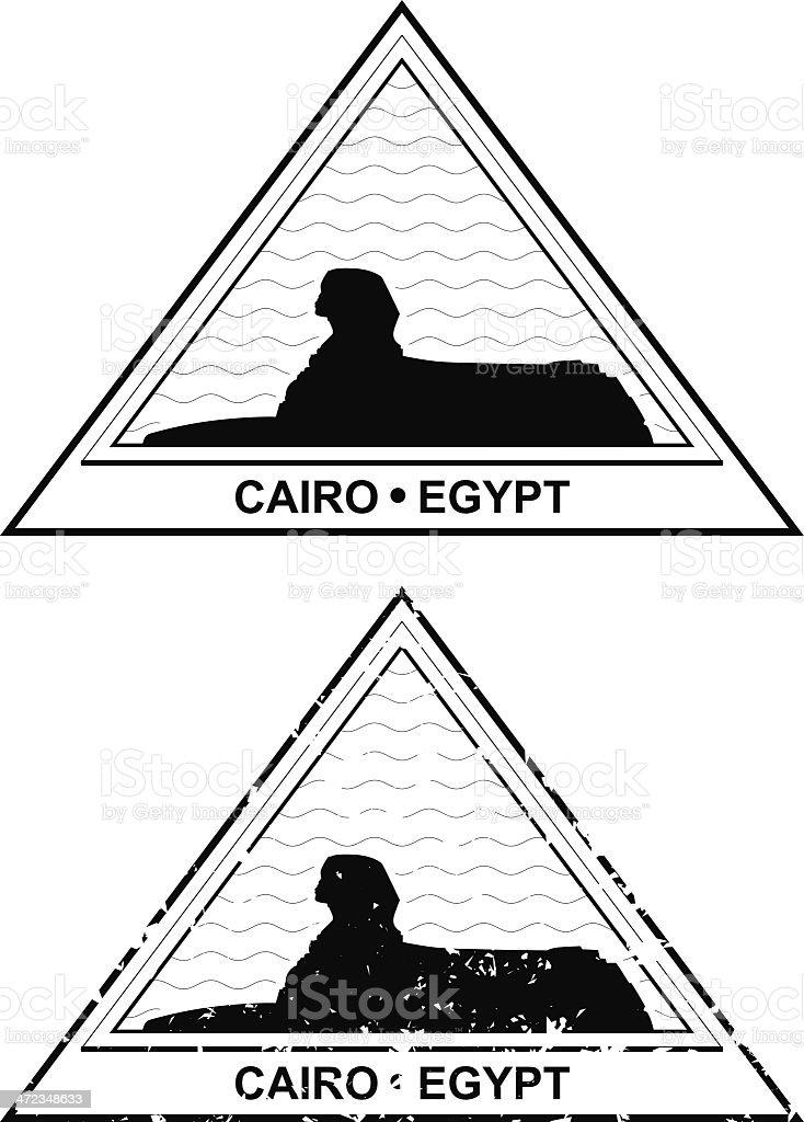 Egyptian Passport Stamp royalty-free stock vector art
