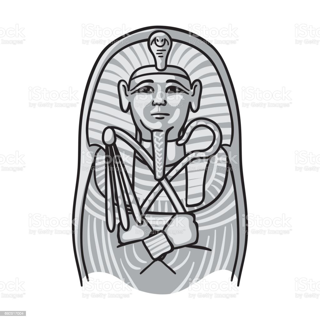 Egyptian pharaoh sarcophagus icon in monochrome style isolated on egyptian pharaoh sarcophagus icon in monochrome style isolated on white background museum symbol stock vector buycottarizona