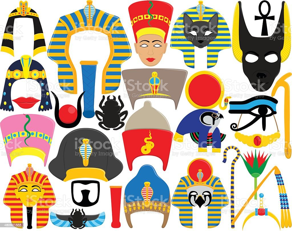 Egyptian Props vector art illustration