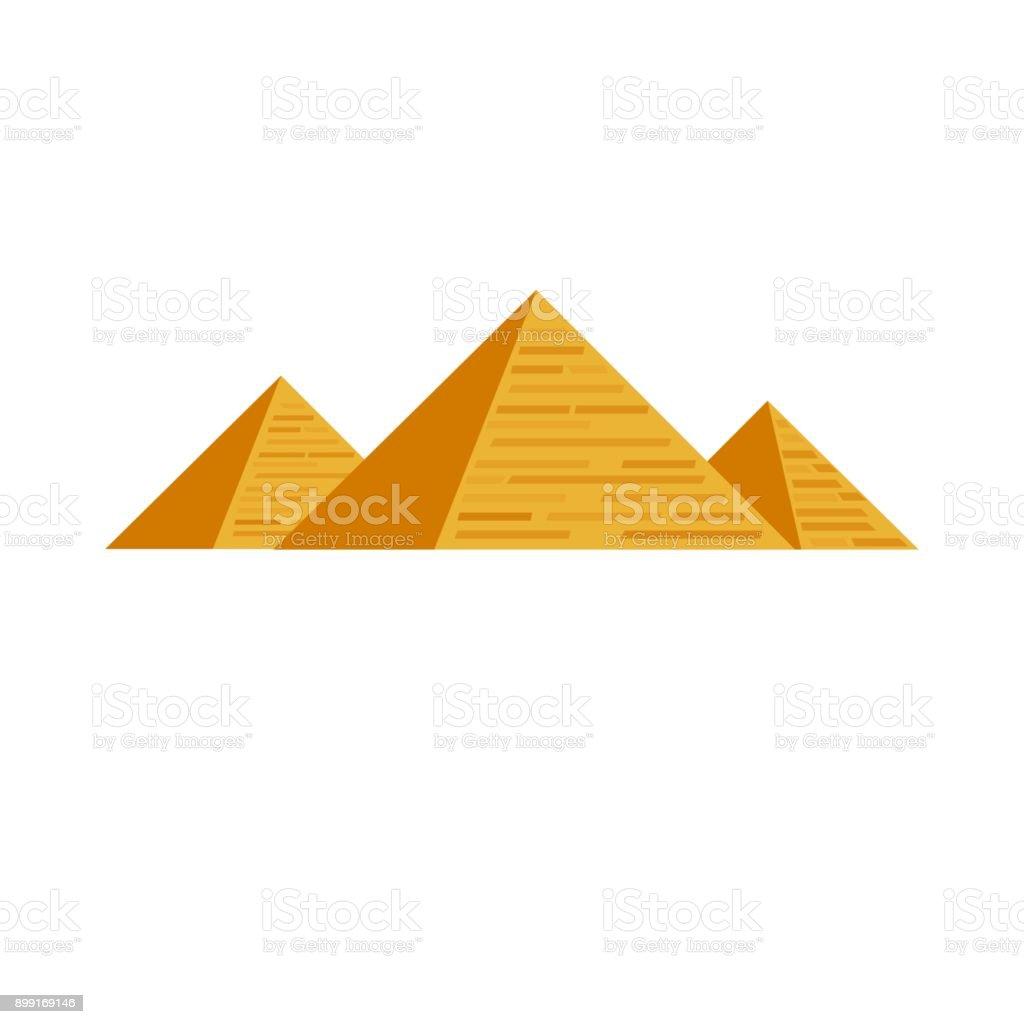 Egyptian pyramids Egypt Cairo Africa vector art illustration