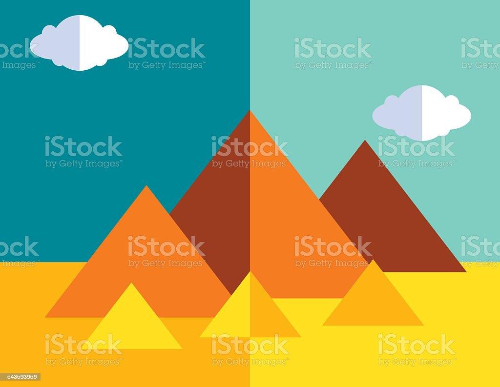 Egyptian Pyramids vector art illustration