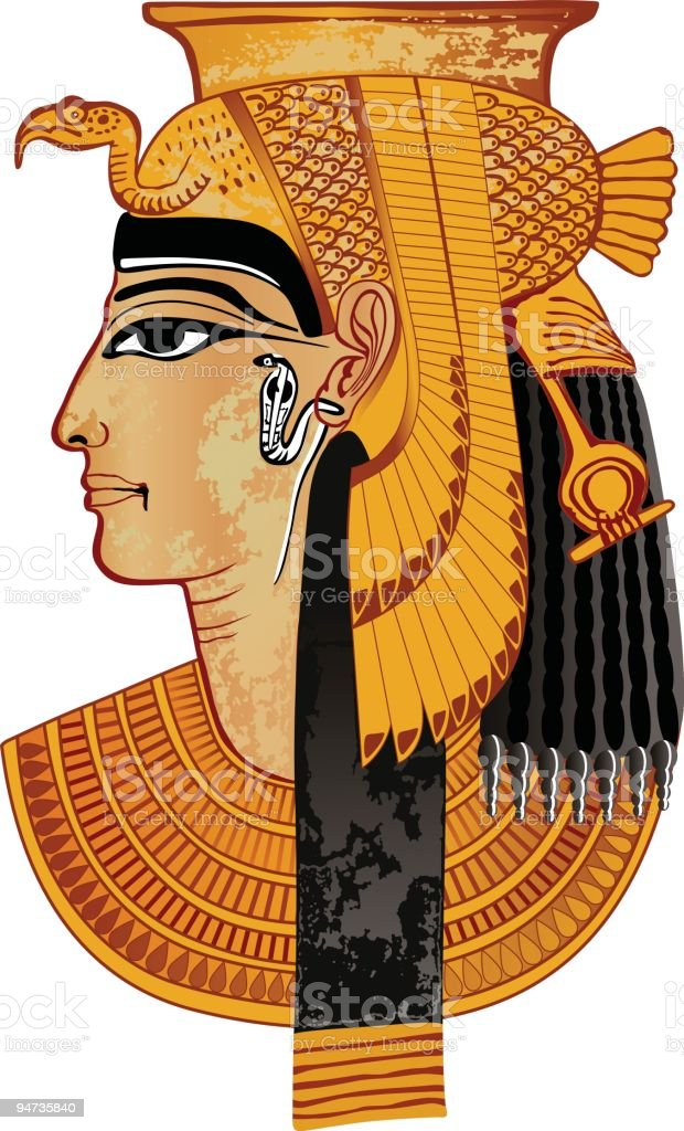 Egyptian queen vector art illustration