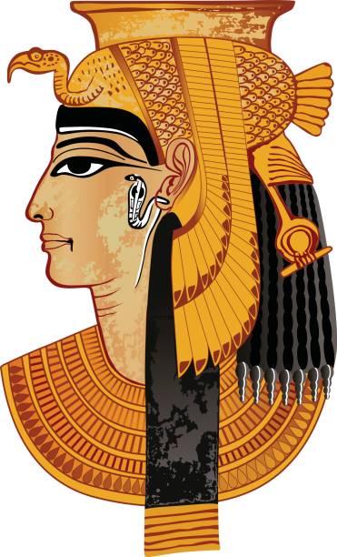bildbanksillustrationer, clip art samt tecknat material och ikoner med egyptian queen - ancient white background