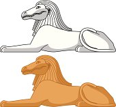 Egyptian Sphinx. Sebek.