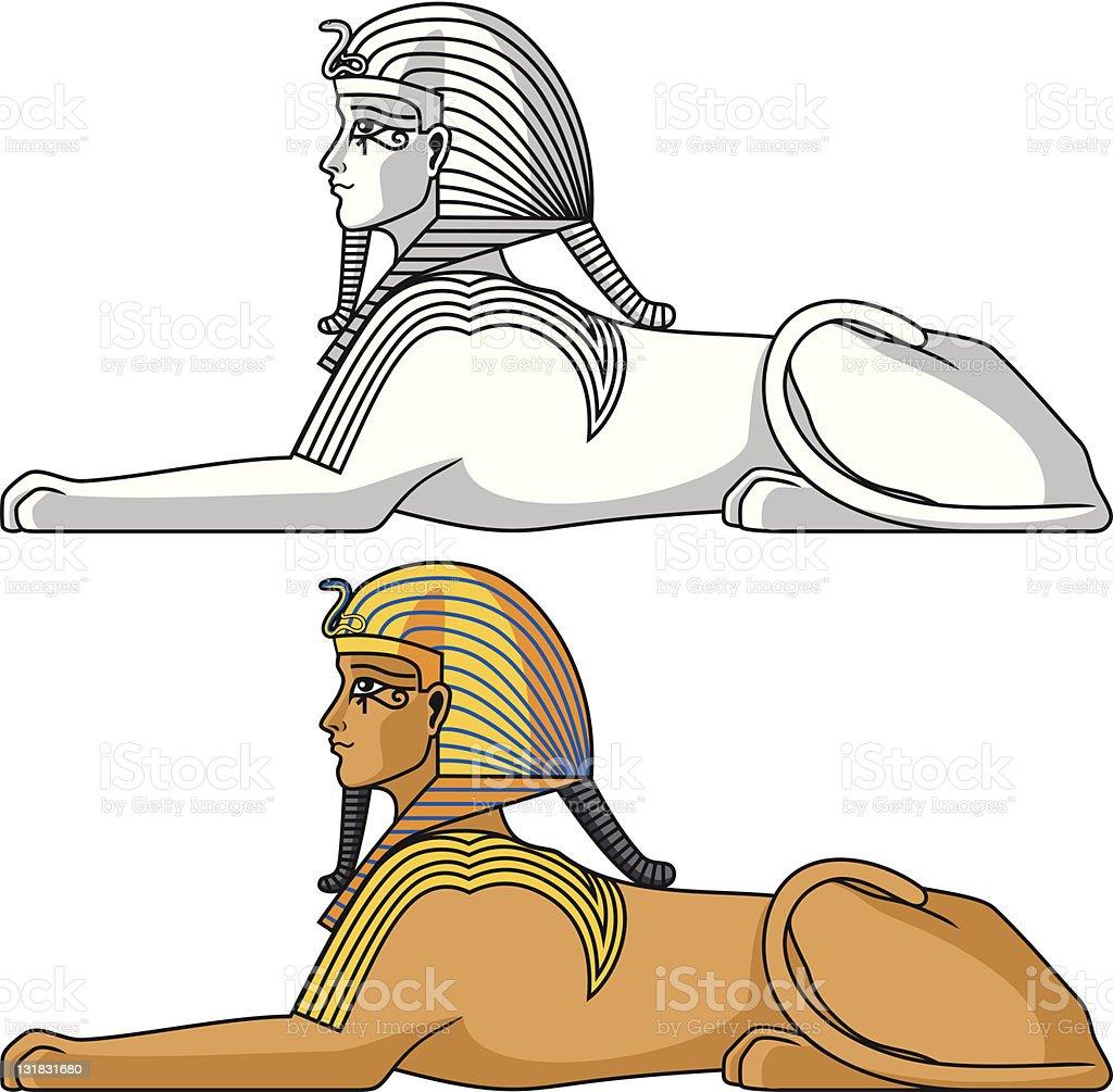 Egyptian Sphinx vector art illustration