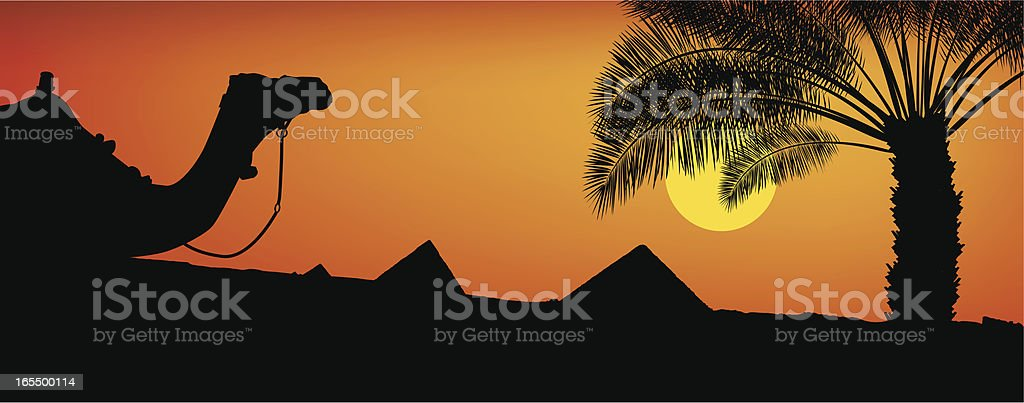 Egyptian Sunset royalty-free stock vector art