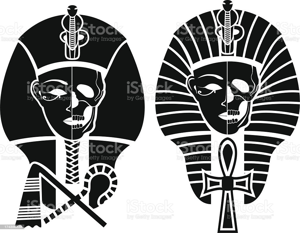 Egyptian symbol of death vector art illustration
