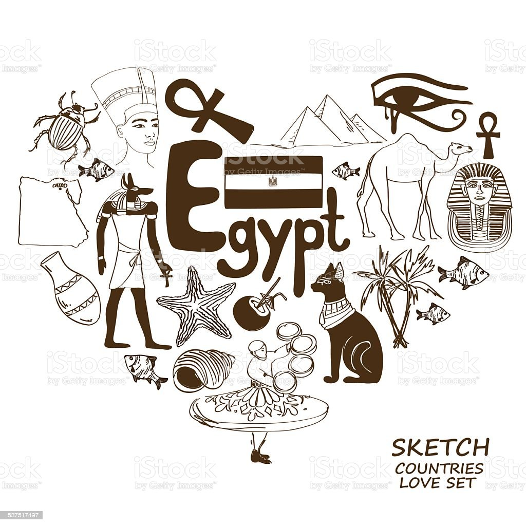 Egyptian symbols in heart shape concept stock vector art more egyptian symbols in heart shape concept royalty free egyptian symbols in heart shape concept stock buycottarizona Images