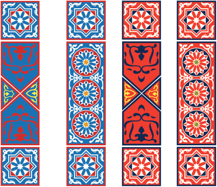 Egyptian Tent Fabric Pattern6-Stripes