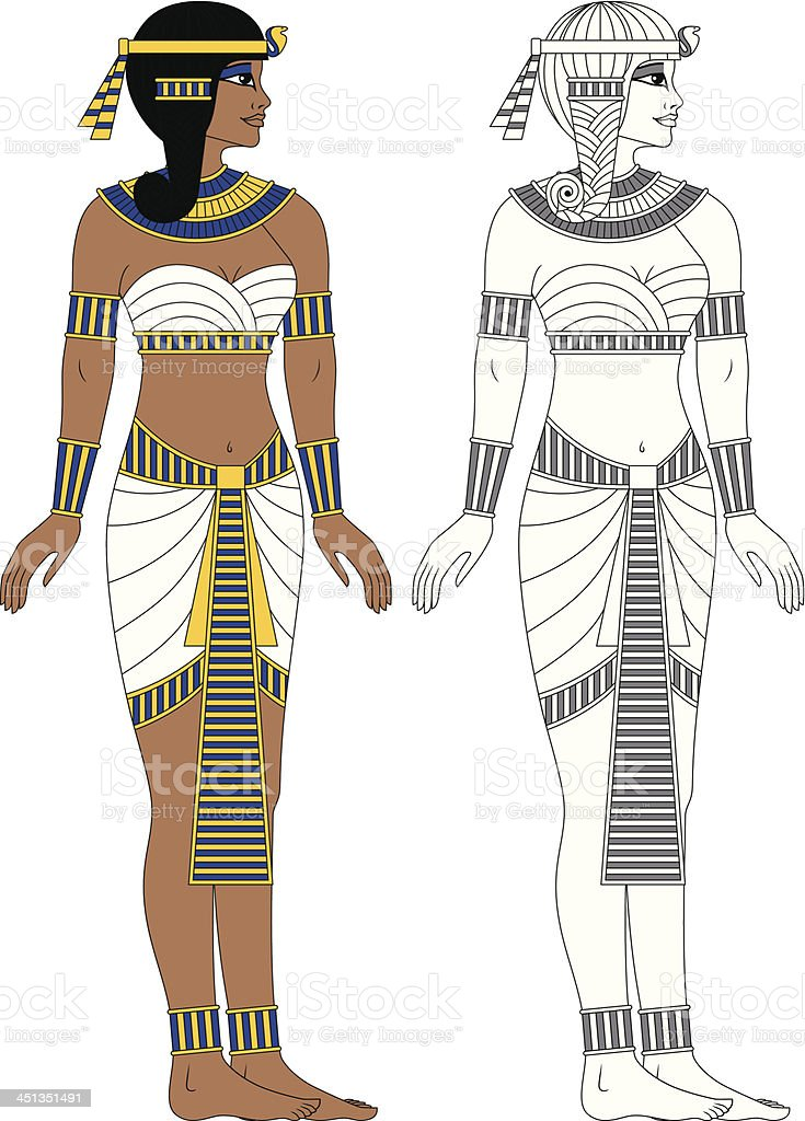 Egyptian Woman royalty-free egyptian woman stock vector art & more images of adult