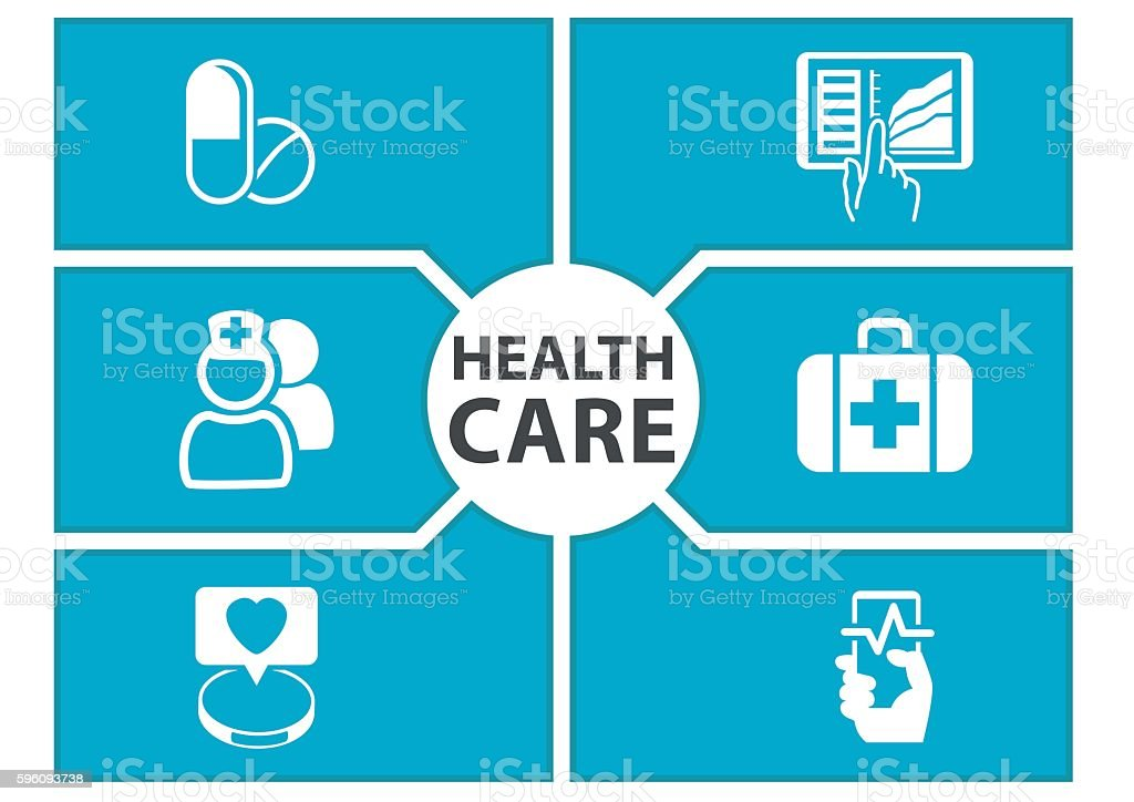 E-health care background with symbols Lizenzfreies ehealth care background with symbols stock vektor art und mehr bilder von abstrakt