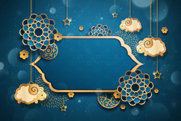 eid al adha design - ramadan kareem stock-grafiken, -clipart, -cartoons und -symbole