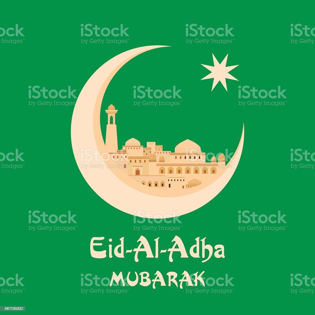 Eid al adha greeting card stock vector art more images of ancient eid al adha greeting card royalty free eid al adha greeting card stock vector art m4hsunfo