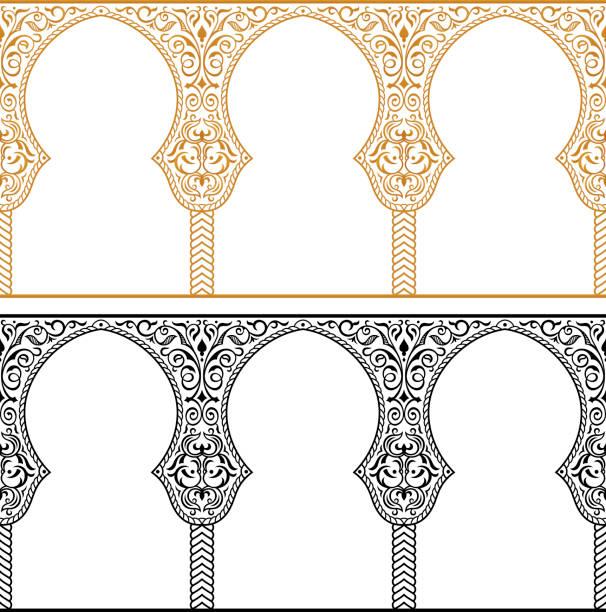 Eid al Adha greetings backgrounds frames set vector art illustration