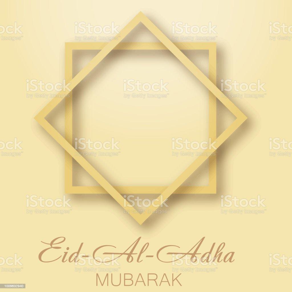Eid al adha mubarak greeting card with arabic ornaments vector stock eid al adha mubarak greeting card with arabic ornaments vector royalty free eid al m4hsunfo