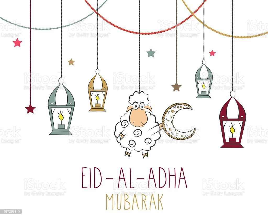 Eid Al Adha mubarak hand drawn poster royalty-free eid al adha mubarak hand drawn poster stock vector art & more images of arabic style