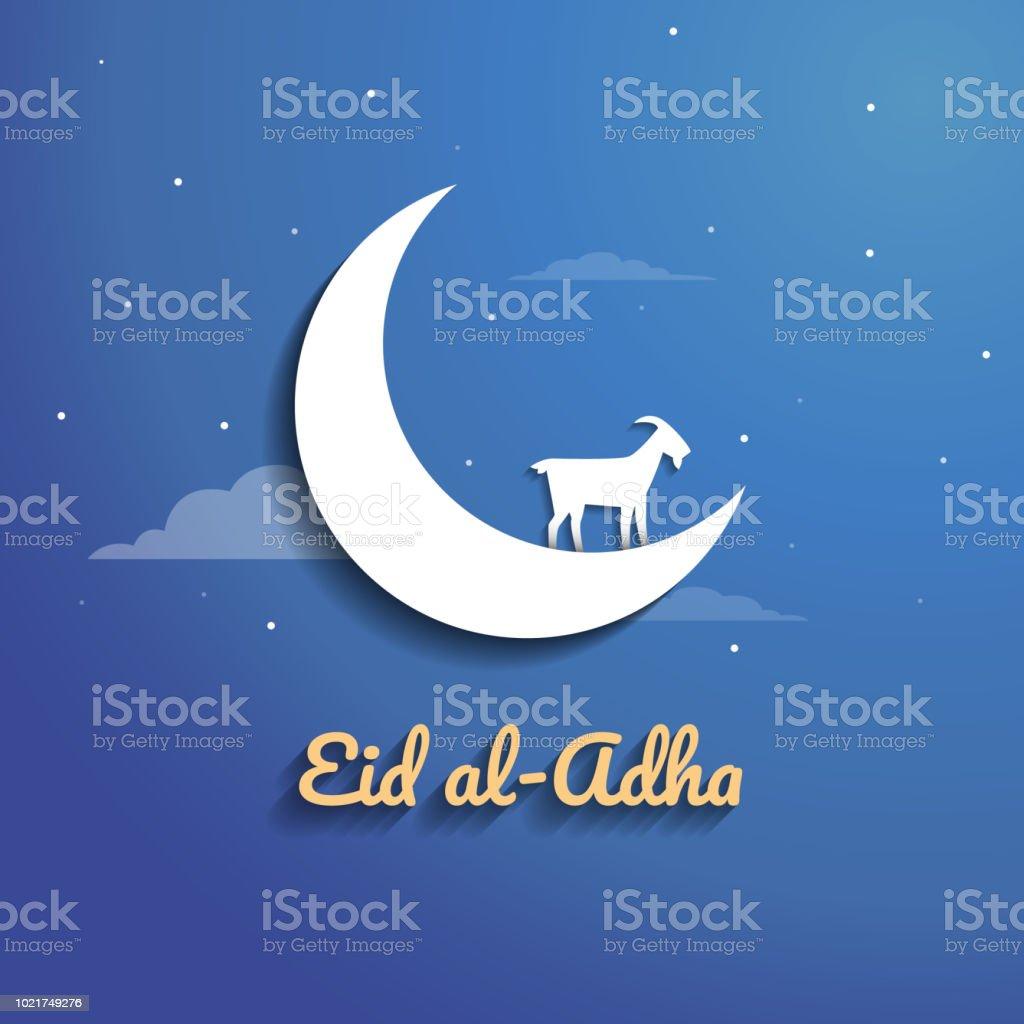 Eid al Adha Mubarak vector. Celebration of Muslim holiday. vector art illustration