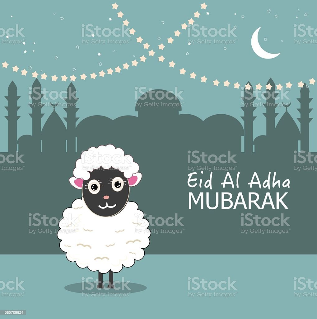 Eid al adha sheep illustration greeting card stock vector art more eid al adha sheep illustration greeting card royalty free eid al adha sheep illustration m4hsunfo