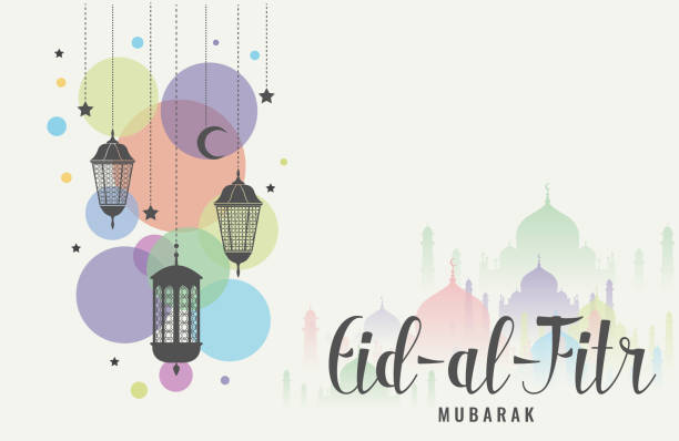 stockillustraties, clipart, cartoons en iconen met eid al fitr - suikerfeest