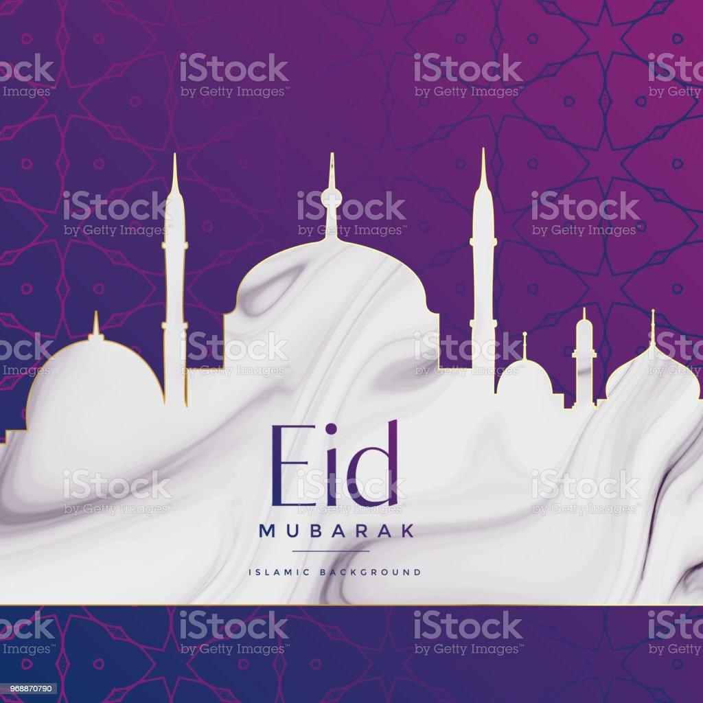 eid festival mosque design background vector art illustration