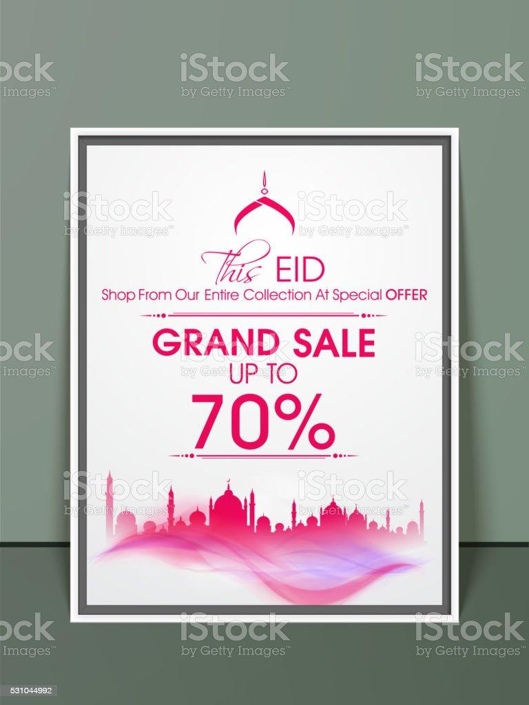 eid grand sale pamphlet banner or flyer design stock vector art