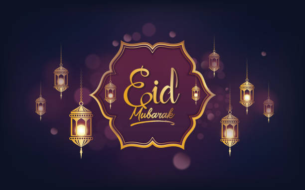 stockillustraties, clipart, cartoons en iconen met eid mubarak achtergrond template - suikerfeest