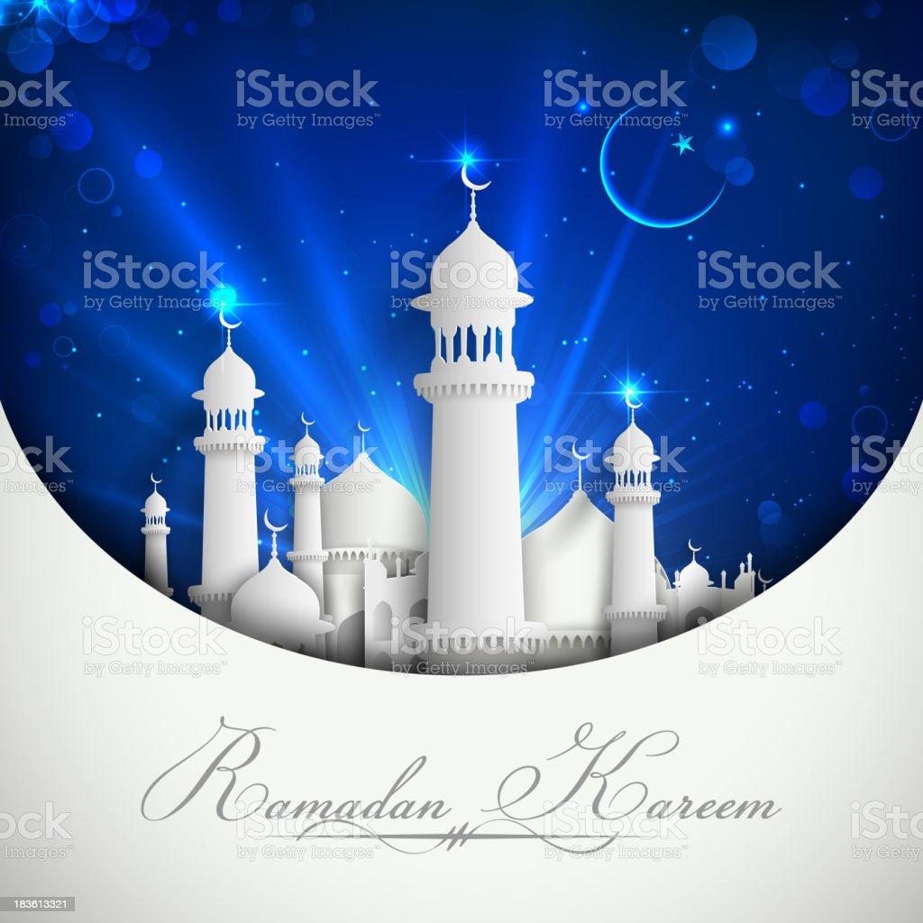 Eid Mubarak Background vector art illustration