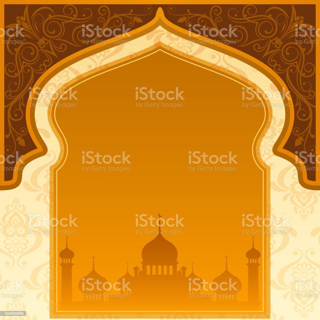 Eid Mubarak ( Blessing for Eid) background vector art illustration