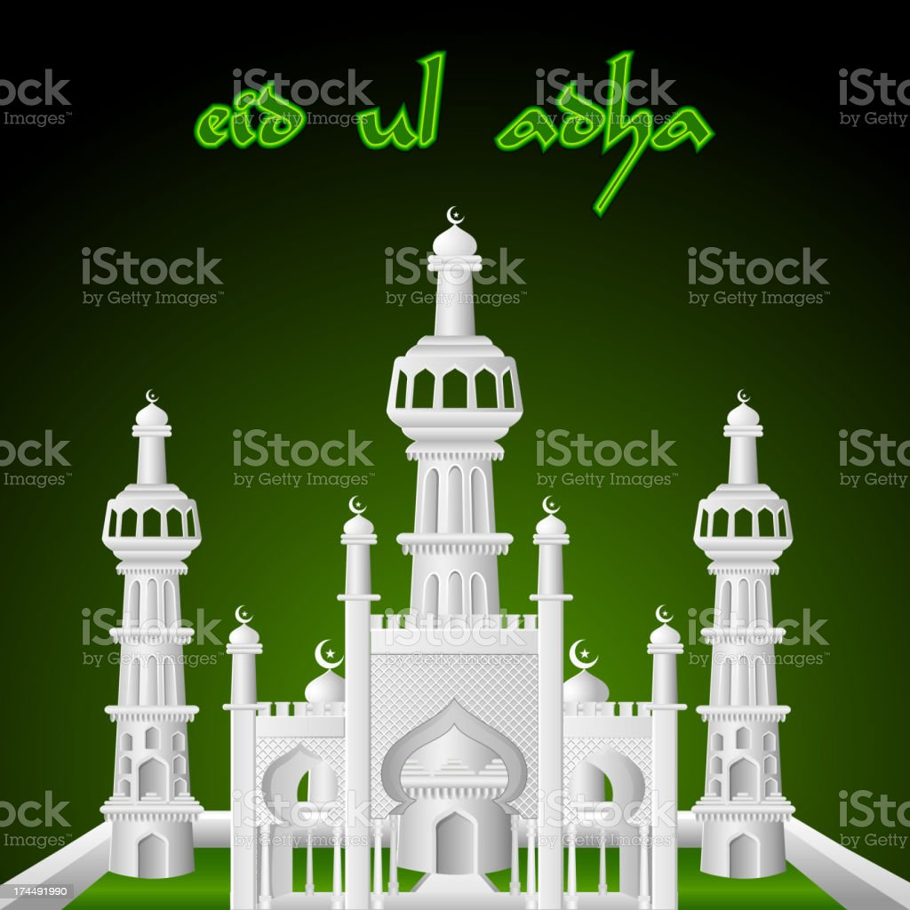 Eid Mubarak background with Islamic Mosque royalty-free eid mubarak background with islamic mosque stock vector art & more images of allah