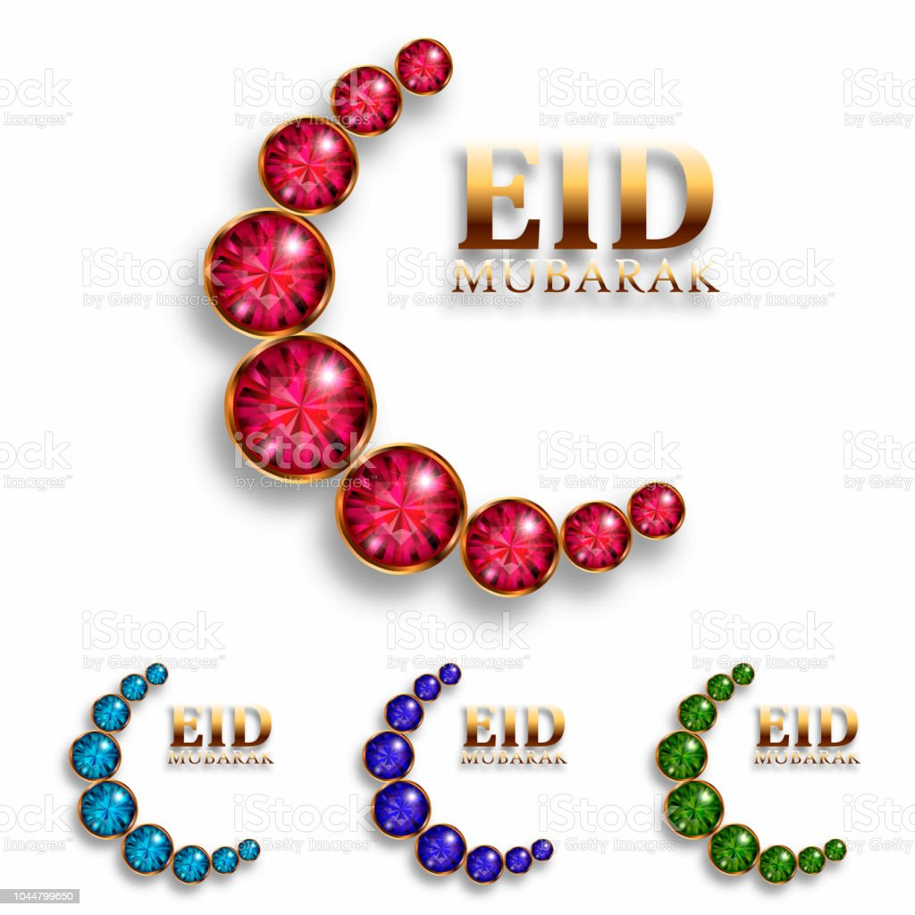 eid mubarak festival premium greeting design illustration vector art illustration