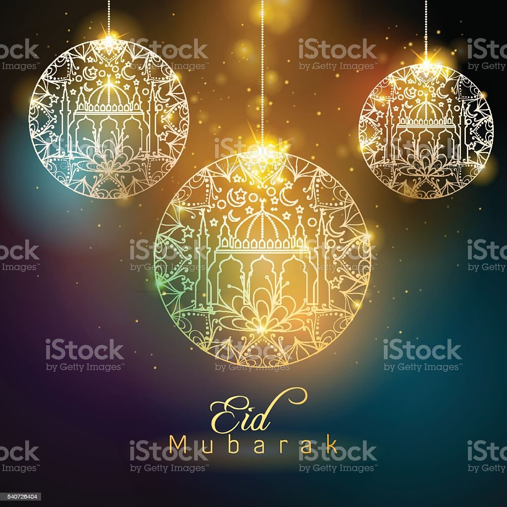 Popular Festival Eid Al-Fitr Decorations - eid-mubarak-floral-pattern-glow-mosque-decoration-vector-id540726404  Image_287457 .com/vectors/eid-mubarak-floral-pattern-glow-mosque-decoration-vector-id540726404