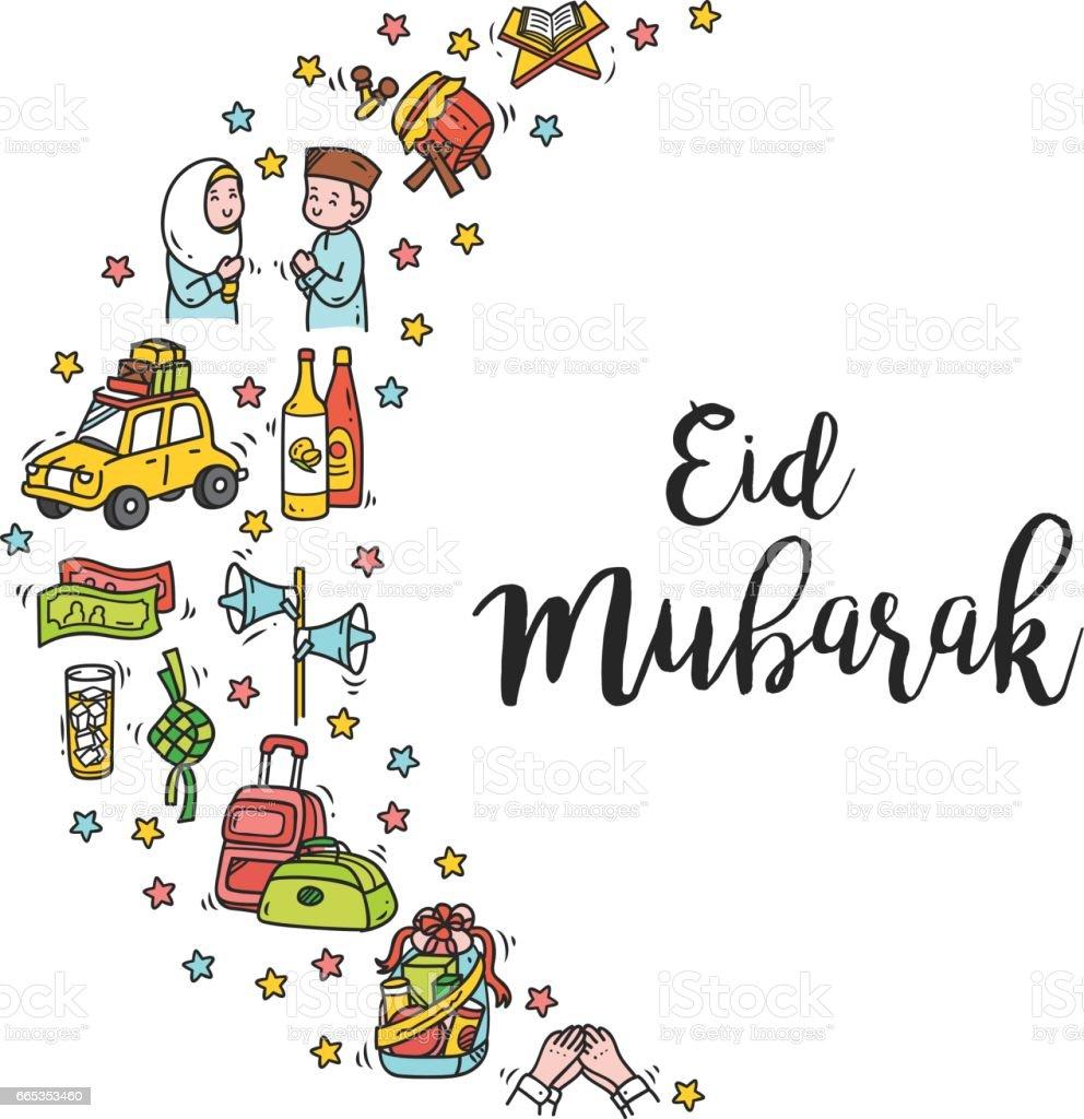writing eid mubarak